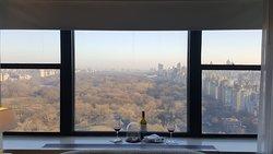 Vista do Central Park a partir do nosso quarto ... com a surpresa que nos presentearam.