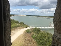 Island dock and St Augustine view from Fort