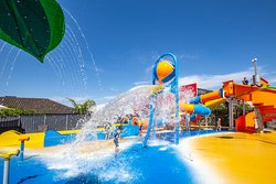 Come and play in our brand new HEATED splash park!