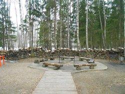 Костровая площадка, где скоро будет приготовлен глинтвейн для всех отдыхающих