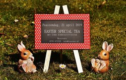 Easter Special Tea à € 27,50 (incl paas-paas-aperititef) Junior Easter Tea à € 9,50
