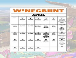 Welcome to April at Winegrunt Wine Bar!