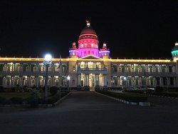 Lalitha Mahal Palace Hotel at night