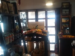 Produce and dried fruits are available.