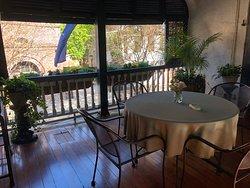 Veranda breakfast seating