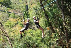 One of the many zip lines.