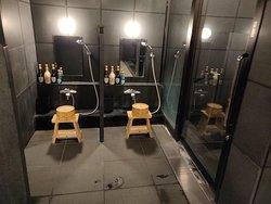 Shower area inside sento bath