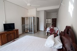 Afroco serviced and furnished one bedroom holiday apartments in Brusubi the Gambia, near all amenities like transport, restaurants, supermarkets,  banks, forex changers, pharmacy, etc