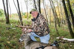 Big typical whitetail deer.