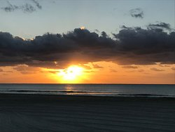 You have to be on the beach early and not miss the sunrise on the Caribbean!
