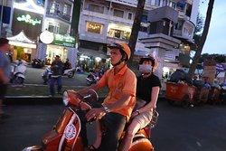 Riding thru the city