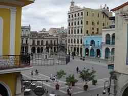 Plaza Vieja sett från vår terrass