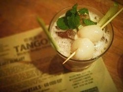 Shangai Shake dark rum with ameretto and raspberry liquor  Sweet and strong