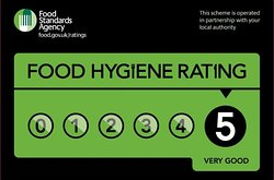 We are a 5 Star Rated Kitchen and have been for 2 years!!