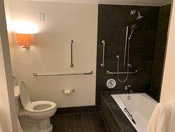 No shower curtain = no hot shower and a wet bathroom