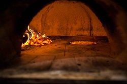 Piec opalany drewnem i Margherita :)