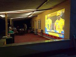 Big screen facilities in Dinning Area
