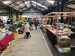 Light and airy indoor market at Skirlington
