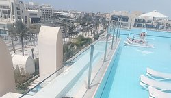 - Recommended for all adults seeking quietness. - Pool on the 5th floor - sun beds inside of the pool just a great experience with a bar serving and the guys up there are really great and doing a great job.