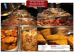 All you can eat BREAKFAST BUFFET On weekends  Saturday and Sunday