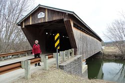 Gorham Covered Bridge with new abuttments.