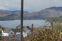 This photo of Lake Windermere and fells was taken from the lounge at Blenheim Lodge.