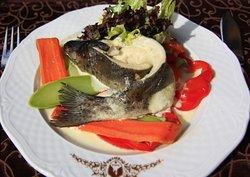 Форель з овочами / Trout with vegetables