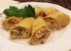 Млинці з куркою та грибами / Pancakes with chicken and mushroom