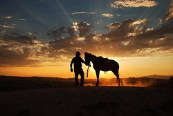Sunset Horse ride at Cemal Ranch