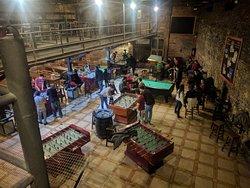 Uma das salas de jogos