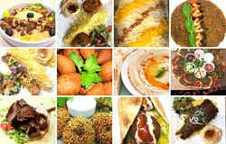 A composite photo of different dishes offered at Edesia