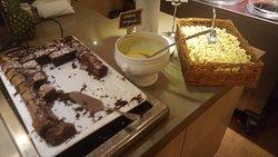 Desserts pop corne !!! crème et cake industriel