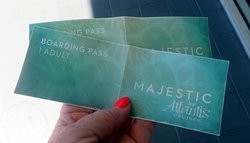 our two boarding passes