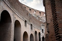 Arches-inside the colosseum.