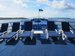 Relax in the Solomon sunshine on our spacious sun deck.