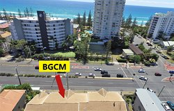 Situated on the Gold Coast Highway with bus stop at front door