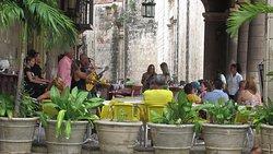 The only restaurant in the square. El unico restaurante en la Plaza