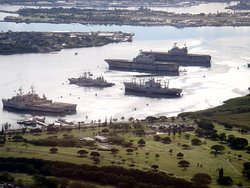 ships undergoing decommissioning at Pearl Harbor