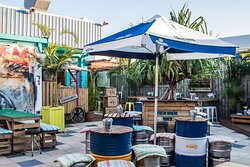 Our sun-drenched garden space is an idyllic setting for a few daytime drinks or a cruisy Sunday sesh.