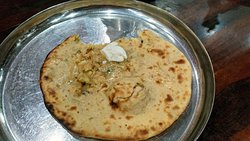 Parantha with white butter