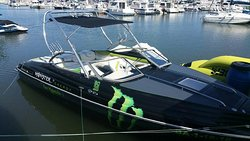 This is our Monster Speedboat, For max. 10 person. A Mercury 300hp engine is ready to go.