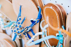 Made to measure sandals. Choose your color, model, number and we'll make them for you. 100% Made in Capri