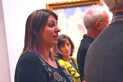 Meghan giving her Impressionism Art Tour at the National Gallery of Art
