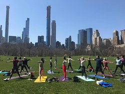 The Yoga Trail in Central Park