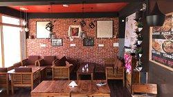 Ladakh Waffle House inside decoration.