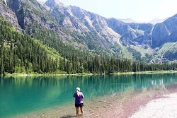 Fishing in Avalanche Lake