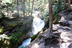 Waterfall along the Avalanche Lake Trail