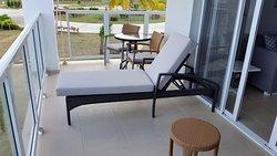 Upper floor balcony, corner suite