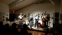 One of RoCA's monthly intimate concerts - The Swampgrass Band