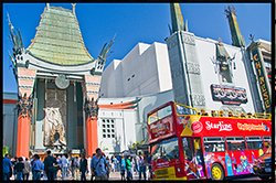 City SIghtseeing Bus at the Chinese Theatre Hollywood